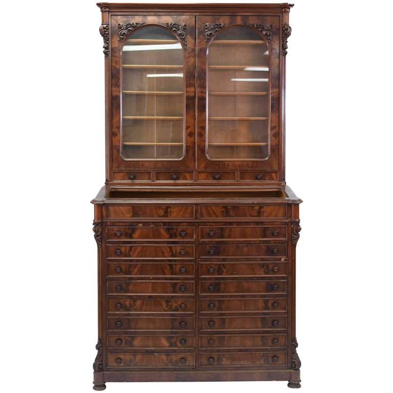 Upcoming Furniture Sales: 19th Century Apothecary Style Multi Drawer Cabinet