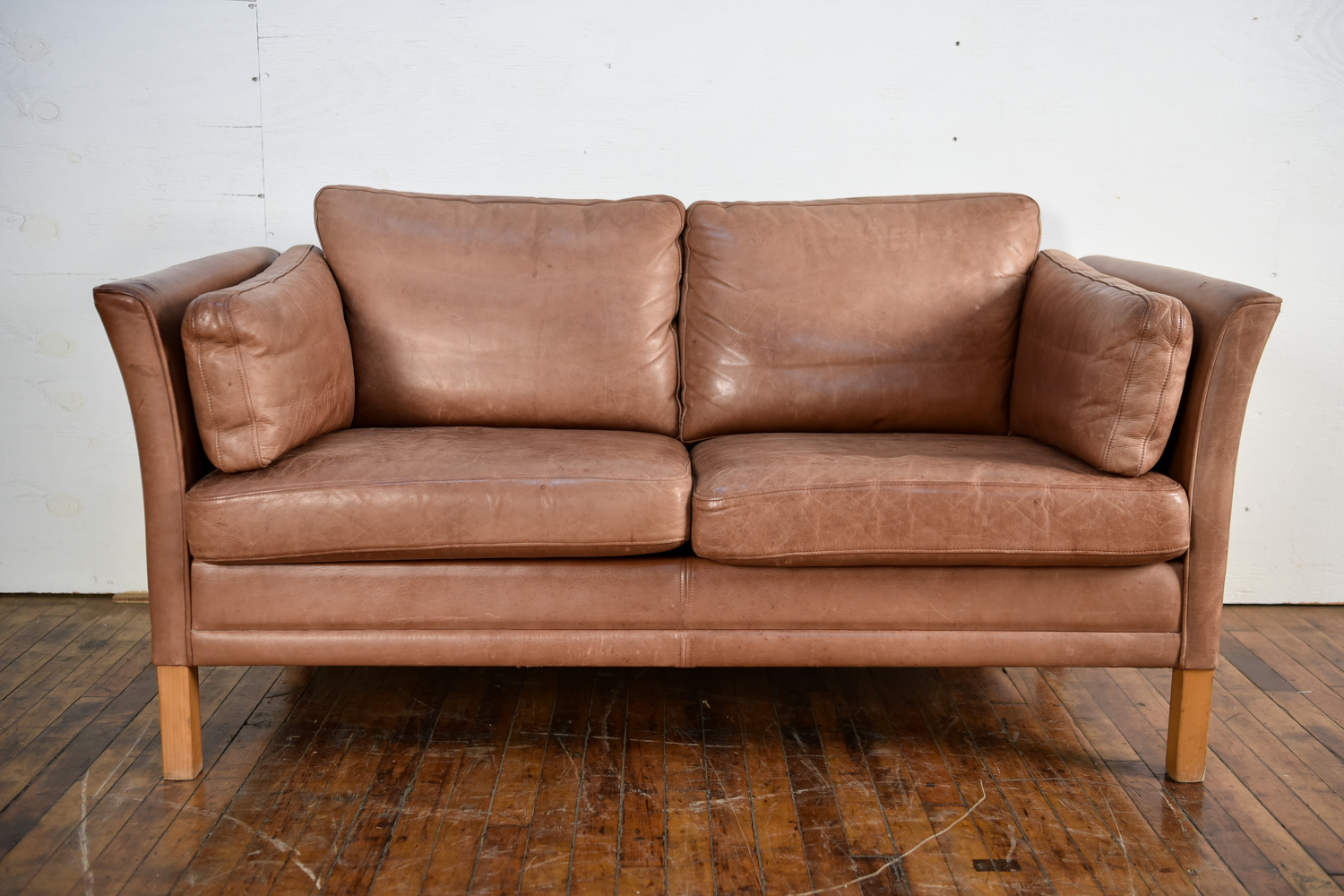 Amazing Danish Leather Sofa By Mogens Hansen 1960S Evergreenethics Interior Chair Design Evergreenethicsorg