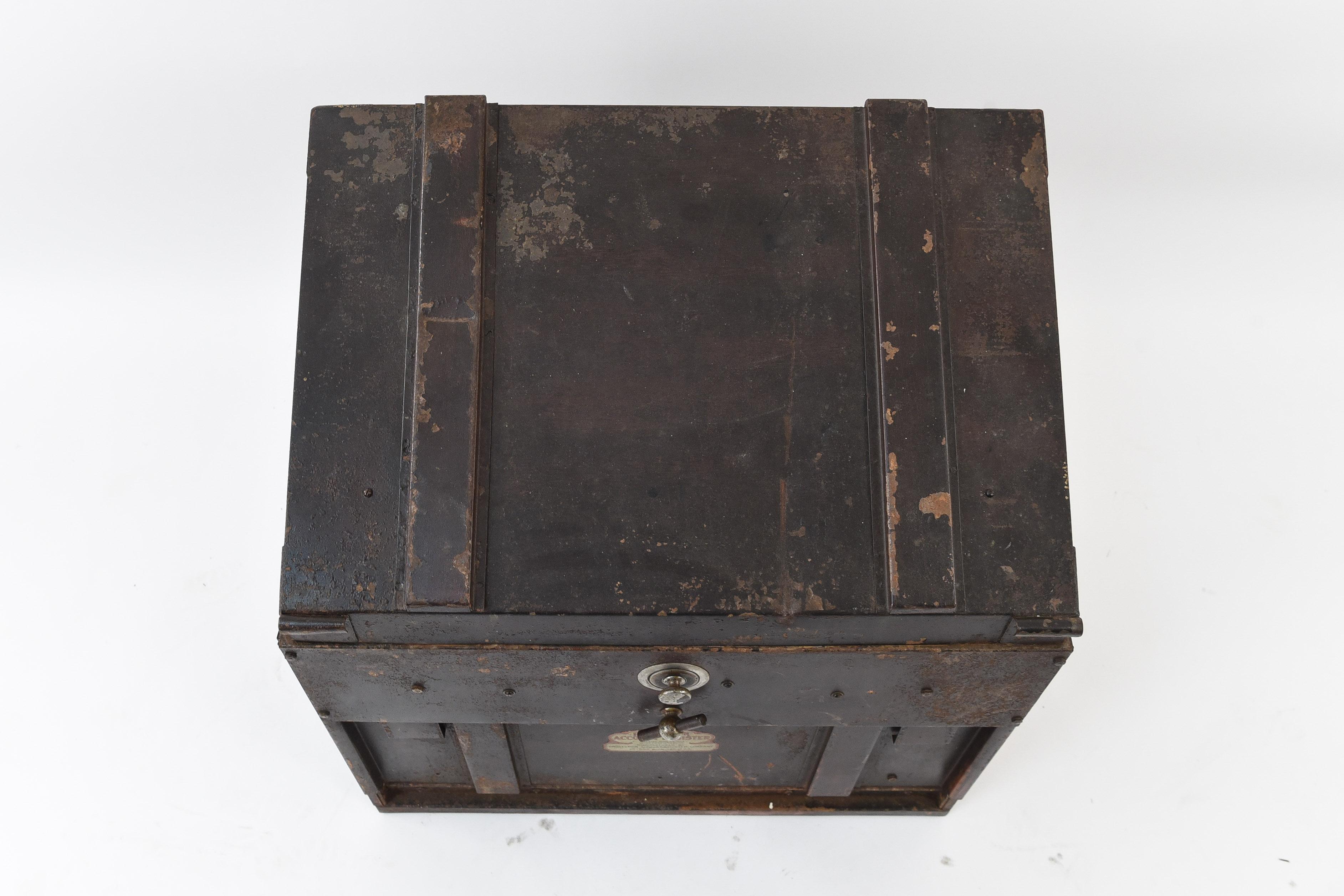 Vintage industrial Account Register filing cabinet & Vintage industrial Account Register filing cabinet - West Port Auction